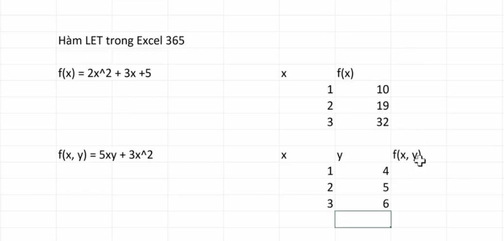 Thủ Thuật Sử Dụng Hàm LET Trong Excel 365