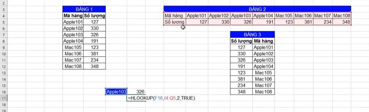 Hàm XLOOKUP tìm giá trị số lượng trong EXECEL Office 365