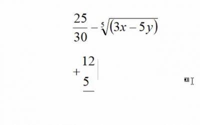 Chèn công thức toán học trong Word 365