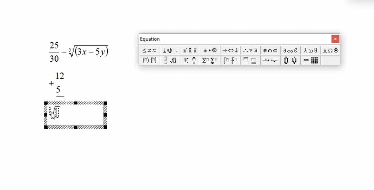 Chèn công thức toán học trong Word 365 13