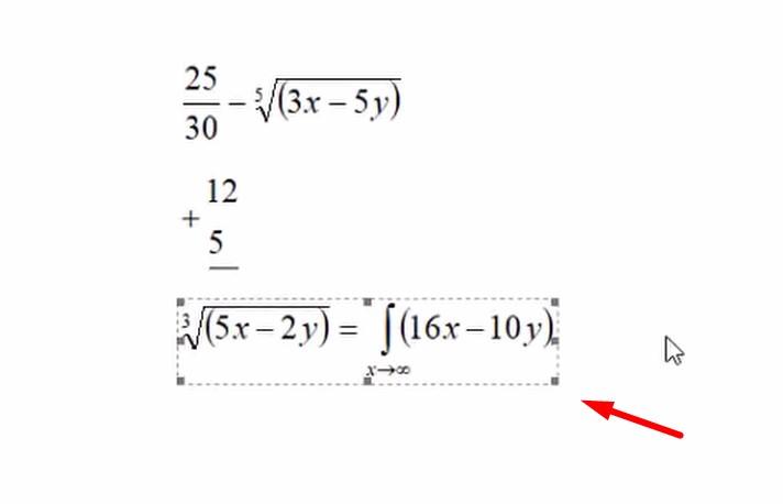 Chèn công thức toán học trong Word 365 14