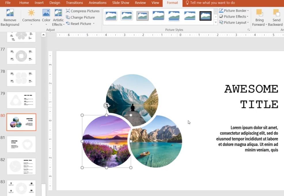 Những Slide của mục Slide hình ảnh
