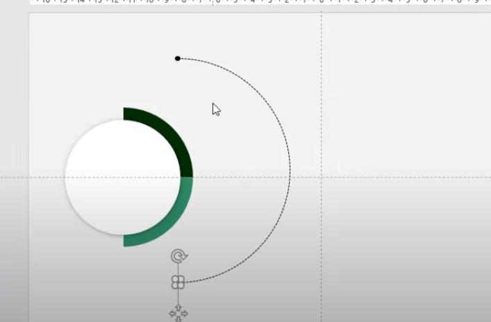 Bạn vẽ hình tròn nhỏ ở 2 đầu, bạn có thể vẽ 1 hình tròn và Copy 1 hình tròn để đều và Group lại 3 vòng tròn đó.