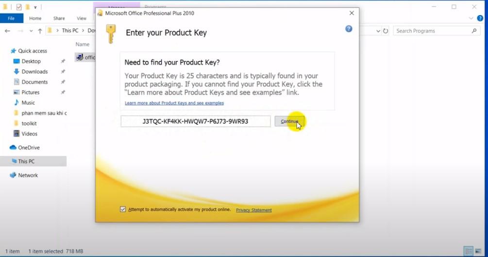 Key đăng nhập