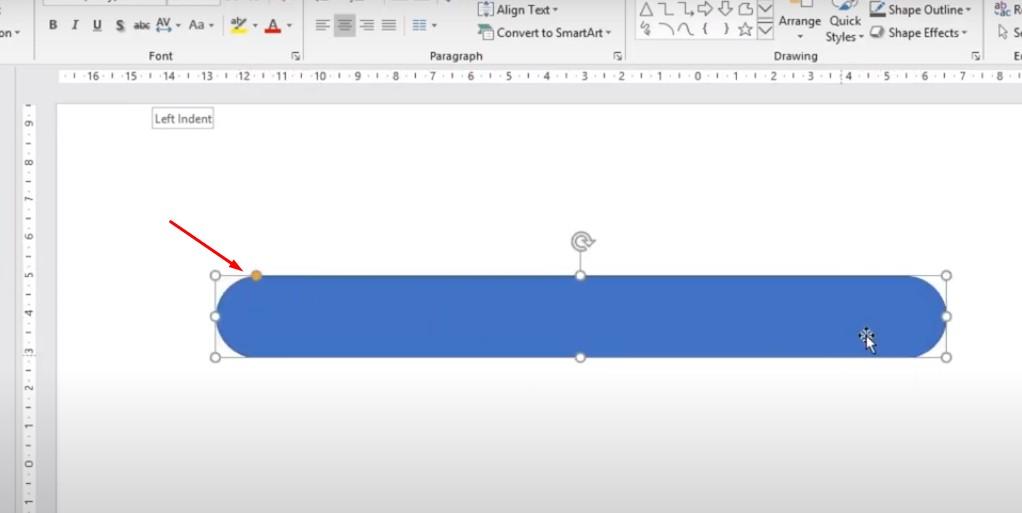 Click vào chấm màu vàng và bo hình khối lại thành hình tròn và xoay hình.