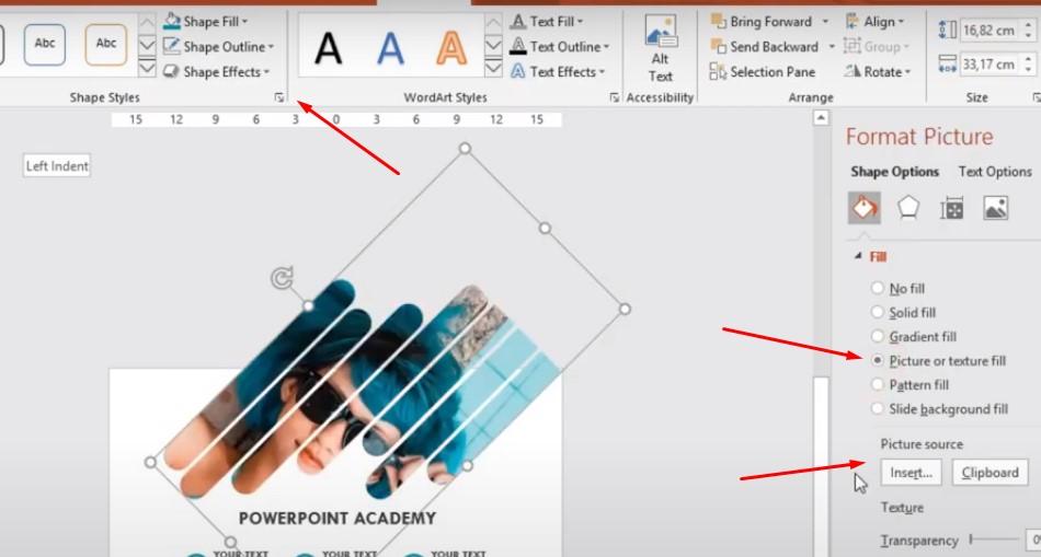 Chọn vào dấu mũi tên bên dưới hình hoặc bạn có thể tải hình bạn lên.