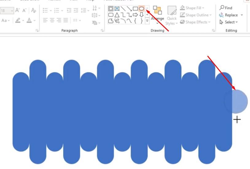 Vào File như ban đầu bạn chọn vào hình tròn và vẽ 1 hình tròn tương ứng với hình khối bạn vẽ.
