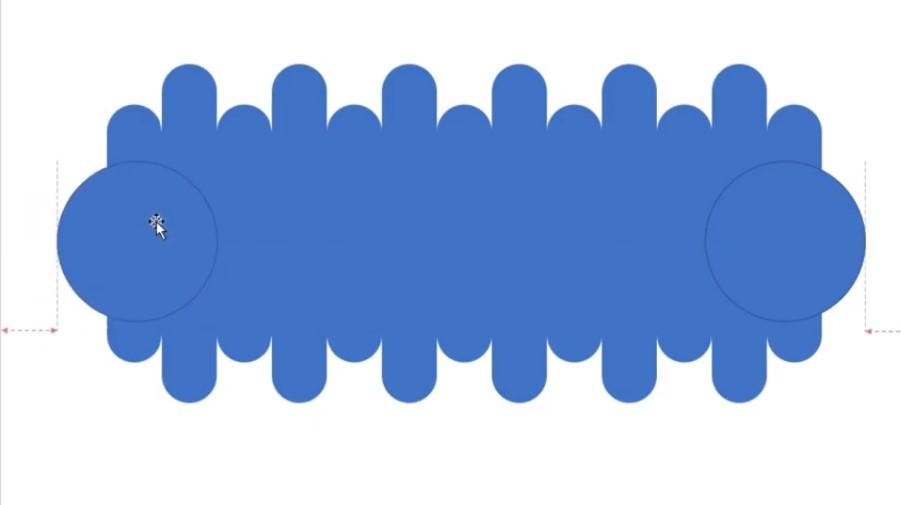 Vẽ hình tròn và nhấn tổ hợp Ctrl + D để nhân bản hình tròn.