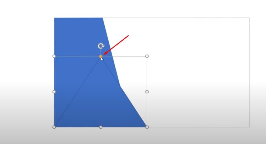 Vẽ hình tam giác, và để chuột vào chấm màu vàng và kéo như hướng dẫn.