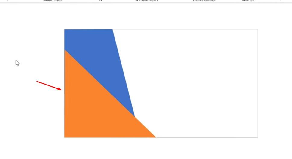 Kéo hình tam giác như cho vừa hình và đổ màu để tránh bị nhầm lẫn.