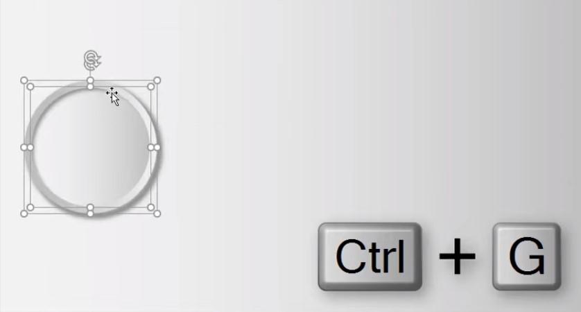 Bấm Ctrl + Shift để thu nhỏ đối tượng cho cân đối