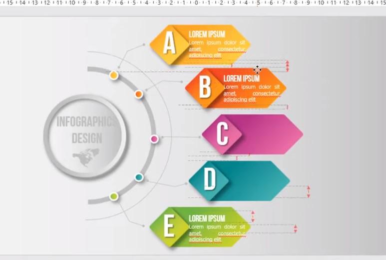 Bạn chuẩn bị các kiểu màu, chữ có sẵn và icon và các văn bản trước nhé.