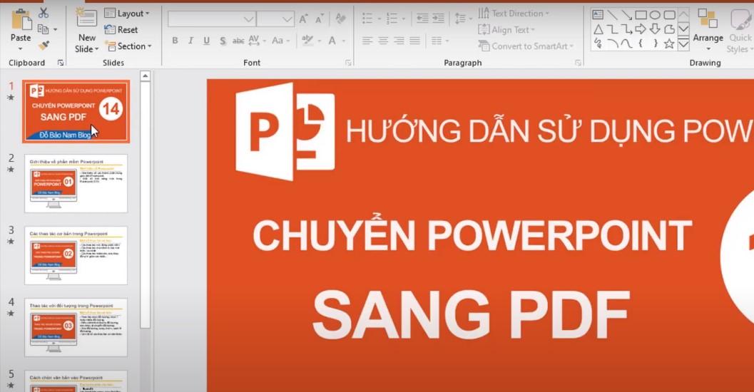 Chuẩn bị FIle Powerpoint thuyết trình hoàn chỉnh để chuyển đổi.