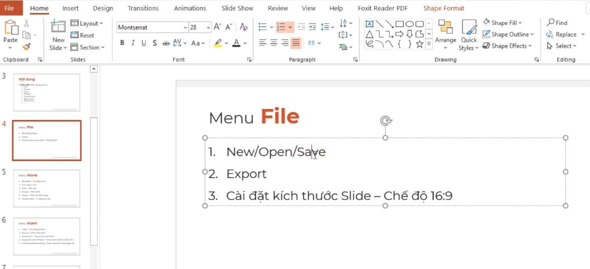 Cài đặt kích thước Slide: Giúp cho các bạn tạo ra các kích thước chính xác: