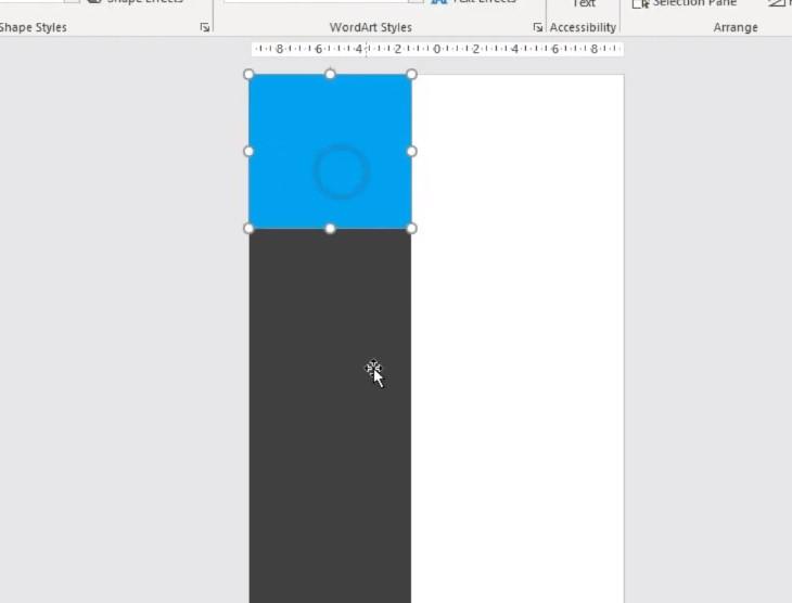 Tiếp tục vẽ 1 hình khối để bỏ ảnh đại diện.