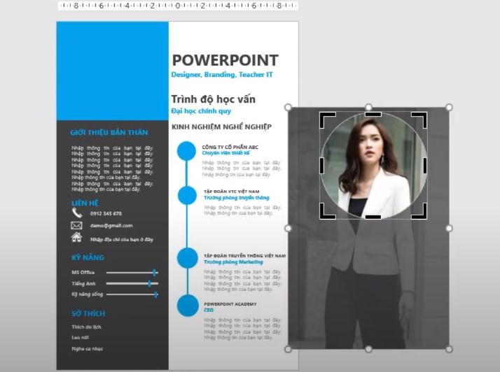 Bạn có thể vào phần Format chọn Corel để đổ màu cho hình đại diện.