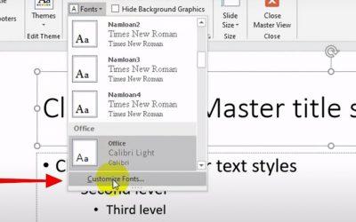 Cách thay đổi mặc định font chữ trong powerpoint