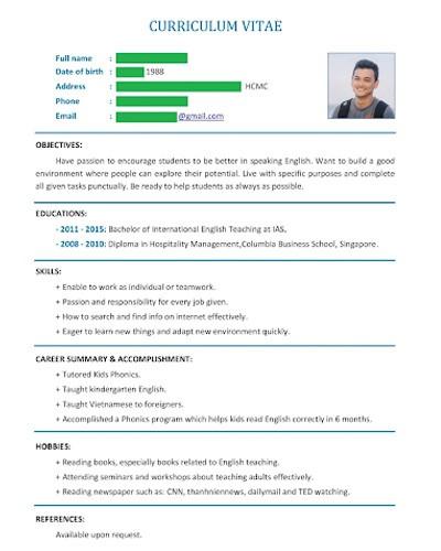 Cách download mẫu CV tiếng Anh bản Word nhanh nhất