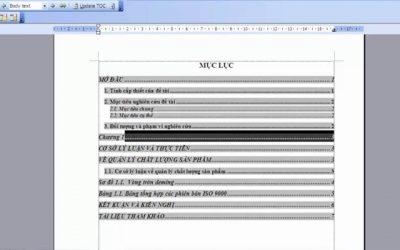 Cách tạo 2 mục lục trong Word 2013 đơn giản