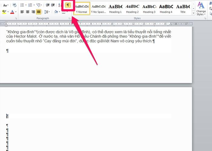 Cách xóa trang trắng trong Word chi tiết nhất