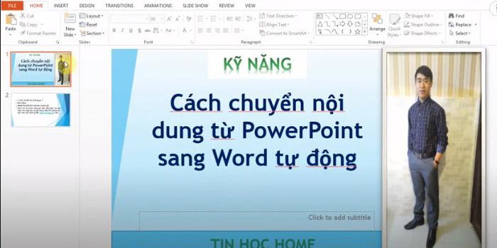 Cách chuyển file PPT sang Word trong một nốt nhạc