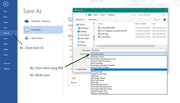 4 cách chuyển đổi Word sang PDF đơn giản, nhanh chóng