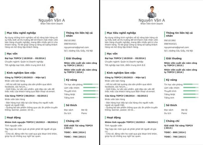 Cách viết mẫu CV xin việc file Word đơn giản, ấn tượng