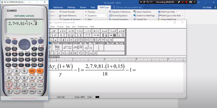 Hướng dẫn cách tải MathType cho Word 2016