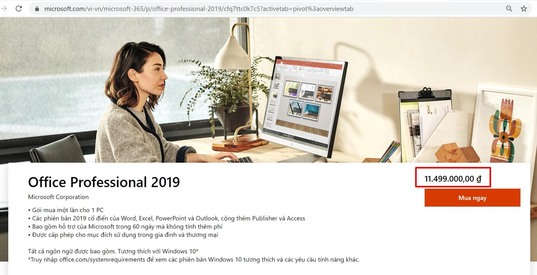 gia goc office 2019