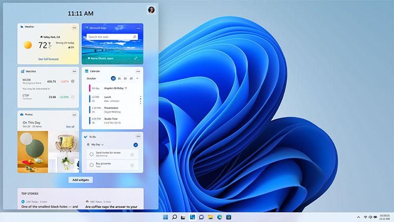 Widgets trên Windows 11