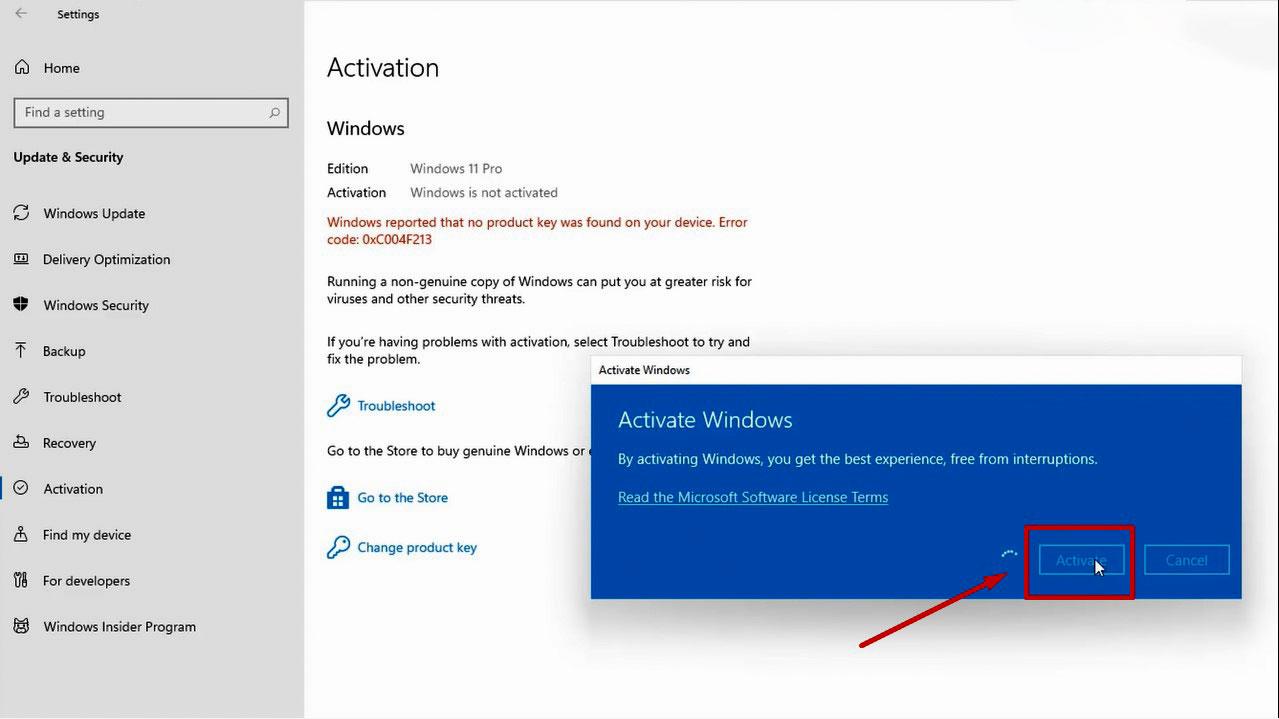 cách kích hoạt windows 11 pro